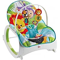 Fisher-Price FMN39 Infant-to-Toddler Rocker, Baby Bouncer Chair and Rocker, Suitable for New-Born to Toddler