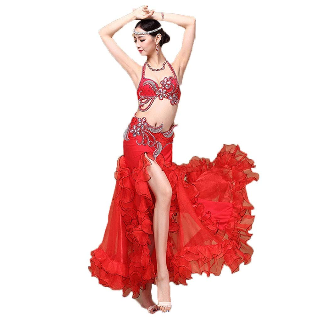 【メーカー直送】 大人の女性のベリーダンスの衣装のスーツの性能の衣類のブラのスカートの分割のスーツ レッド B07PBHDS6H l L l|レッド レッド l|レッド L l, こだわり処良味館:55842296 --- a0267596.xsph.ru