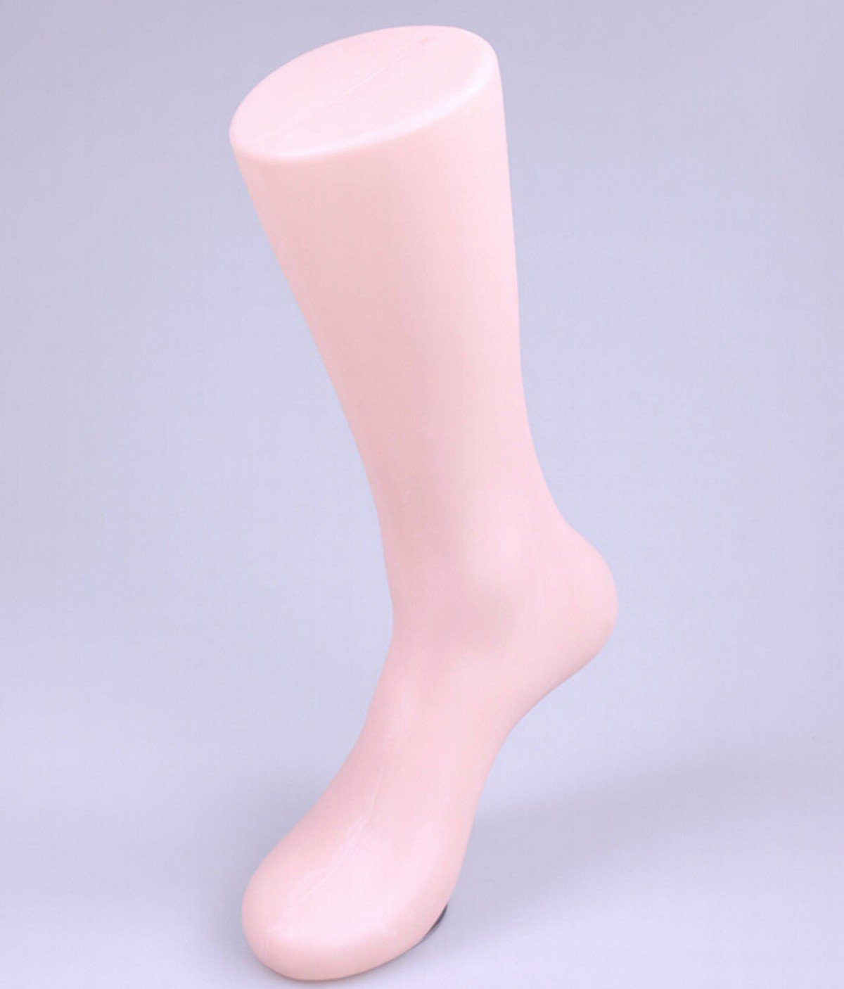 1 Plastic Male Mannequin Right Foot Magnetic Bottom , Mannequin Legs Feet with Magnet , For Sox/Sock Display