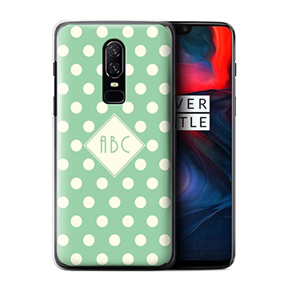 huge selection of ac5f9 f908a Amazon.com: Personalized Custom Polka Dot Case for OnePlus 6/Green ...