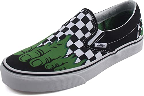 Vans Marvel Hulk Checkerboard Classic Slip On Trainers-UK 3  Amazon.co.uk   Shoes   Bags 734b9446b