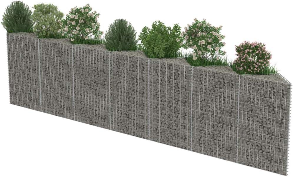 Tidyard Huerto Urbano Muro de Gaviones de Acero de Óxido ...