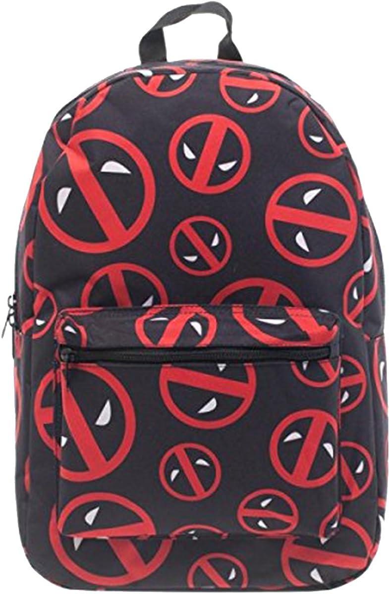 Marvel Deadpool Logo All Over Print Backpack