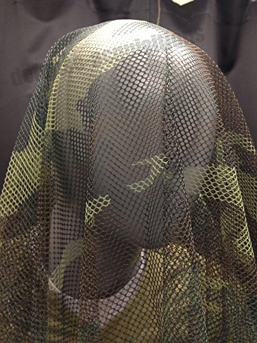 NEW GI FULL BODY HONEYCOMB SNIPER VEIL WOODLAND CAMOUFLAGE NETTING 5' X - Woodland Mall Stores