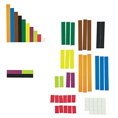 Learning Resources Magnetic Cuisenaire Rods, Early Match Concepts, Multicolor, 64 Pieces, Ages 3+: Office Products