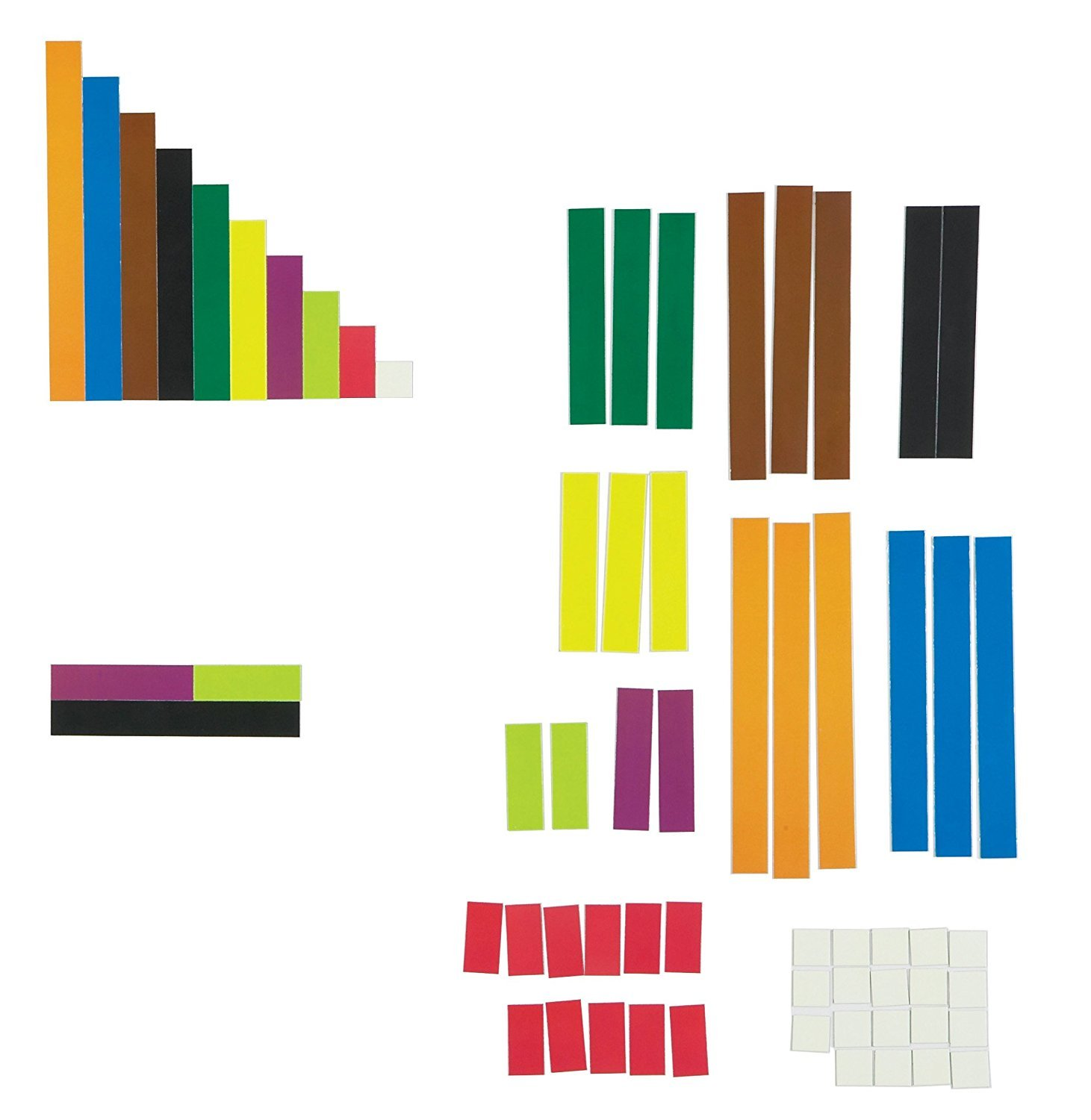 Learning Resources Magnetic Cuisenaire Rods, Early Match Concepts, Multicolor, 64 Pieces, Ages 3+