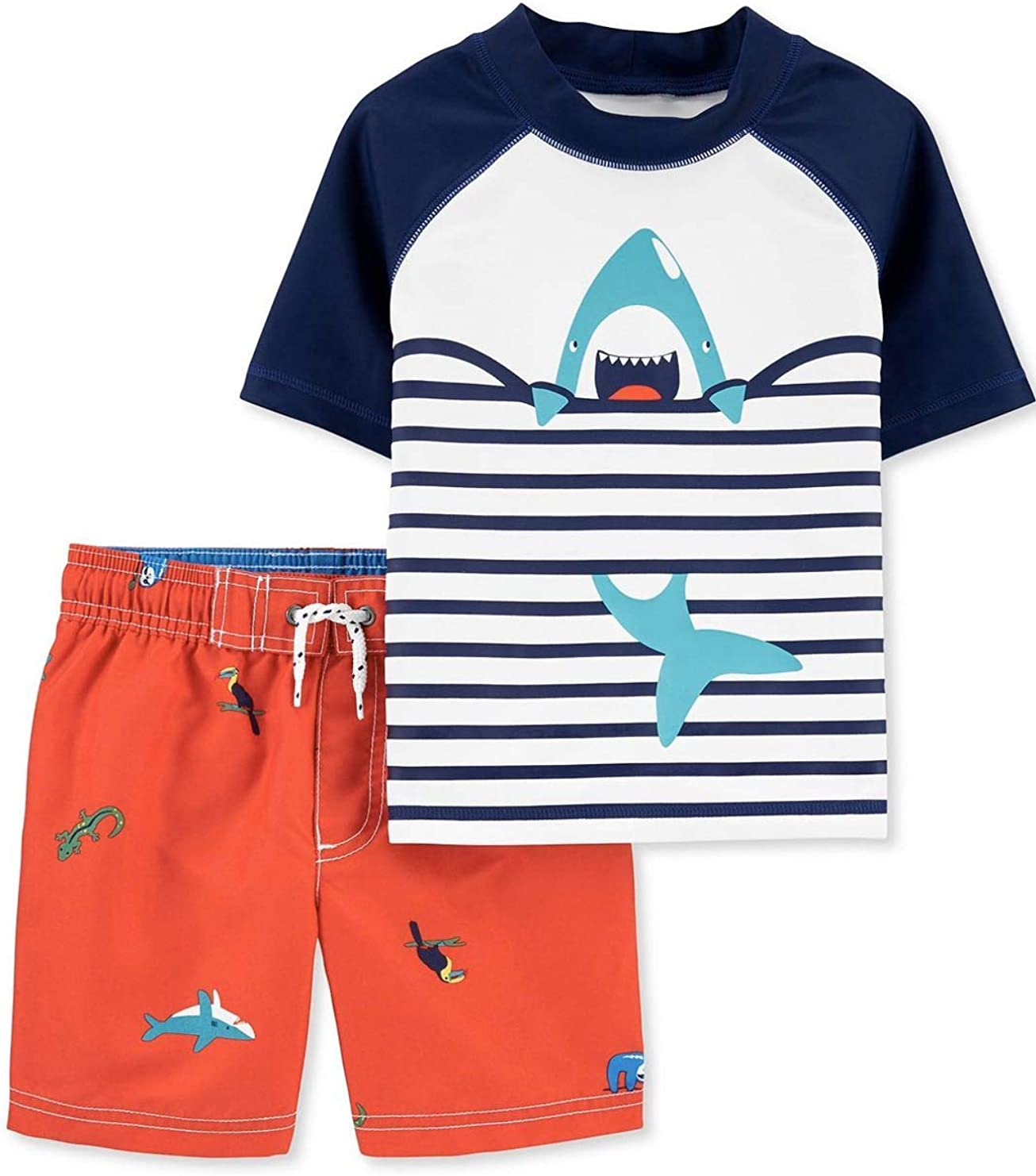 Carter's Toddler and Baby Boy's Rashguard Swim Set