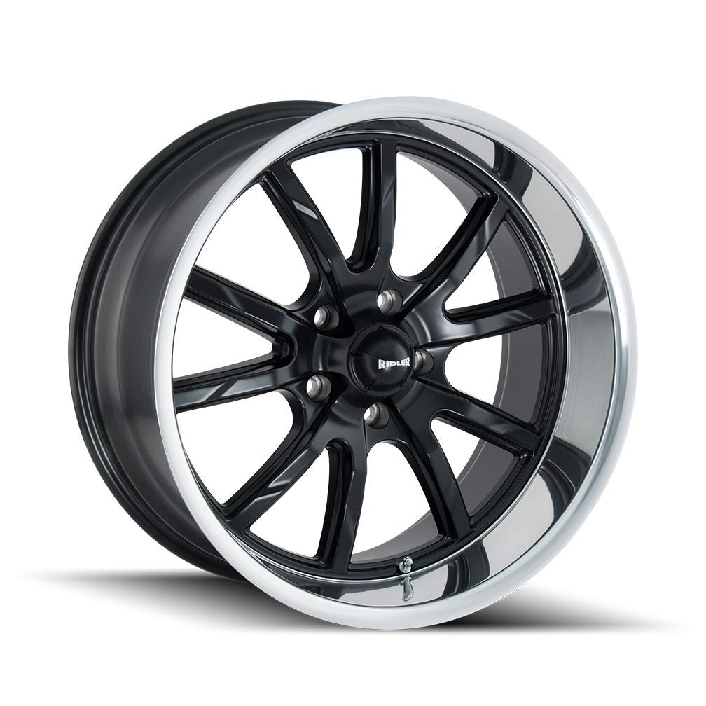 RIDLER 650 (650) MATTE BLACK/POLISHED LIP: 20x8.5 Wheel Size; 5-127 Lug Pattern, 83.82mm Bore, 0mm Offset.