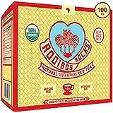 Rooibos Tea Organic Tagless Teabags - 100 South African Red Bush Herbal Tea Bags, By Rooibos Rocks (100ct)