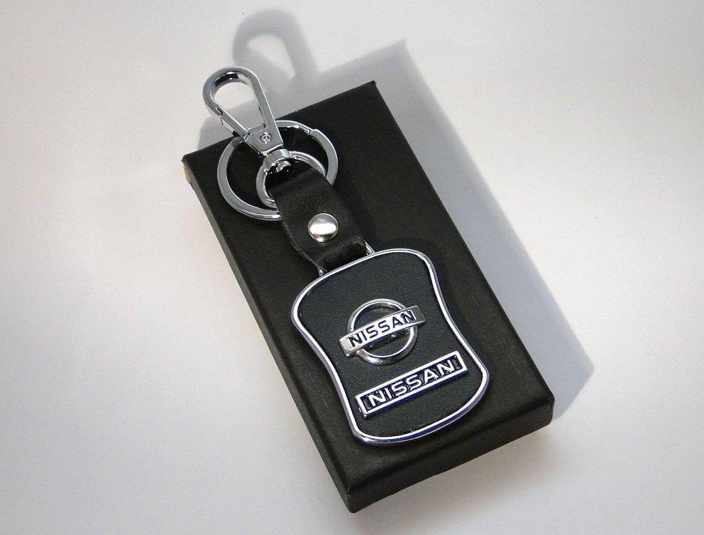 jmtrading Nissan Skyline de lujo metal llavero de piel Para Qashqai Juke Micra