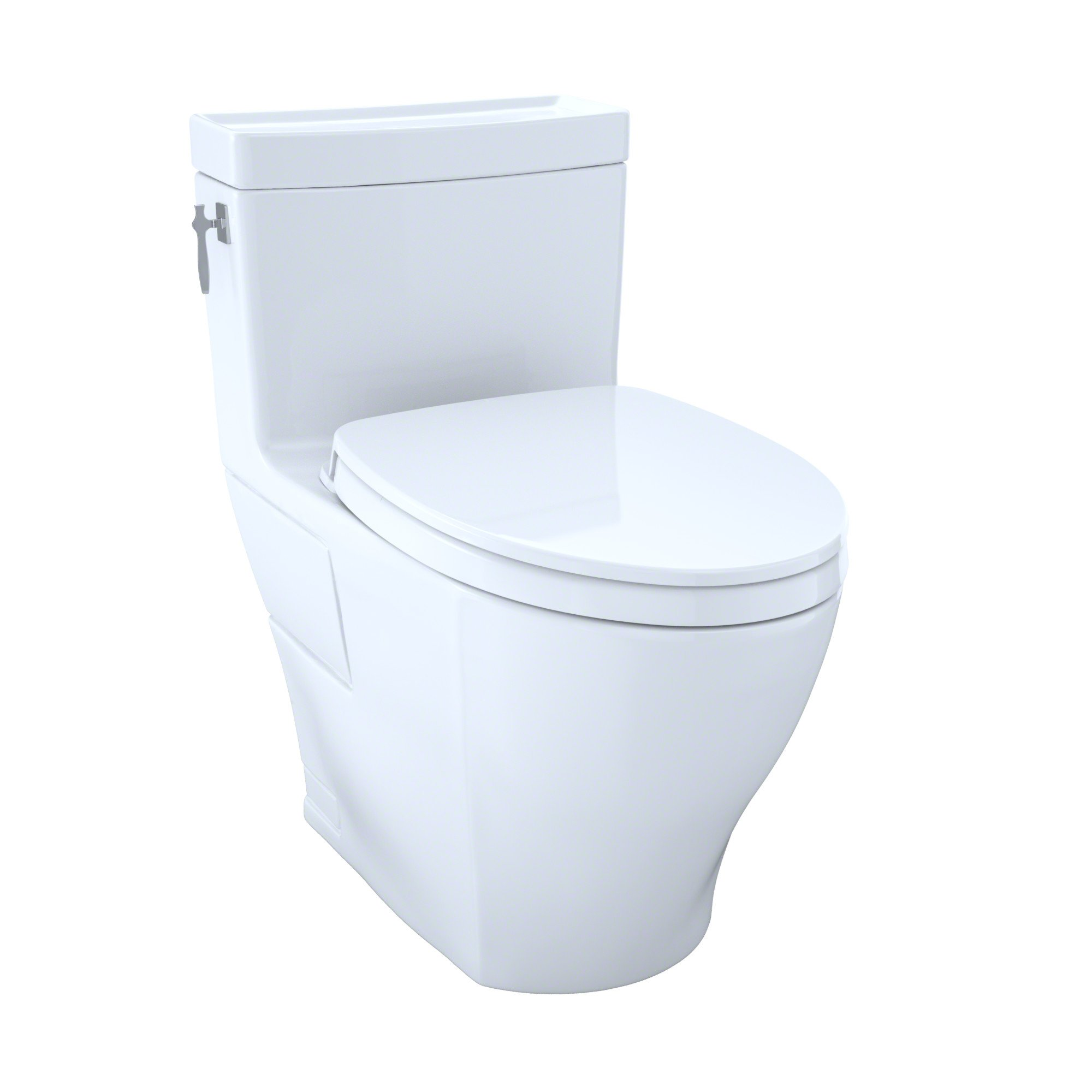 TOTO MS626124CEFG#01 Aimes Washlet+ One-Piece Elongated 1.28 Gpf Universal Height Skirted Toilet with Cefiontect, Cotton White