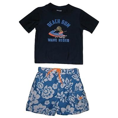 1abed4451a Carter's Baby Boys' 2-Piece Monkey Beach Bum Rashguard Swim Set, Navy