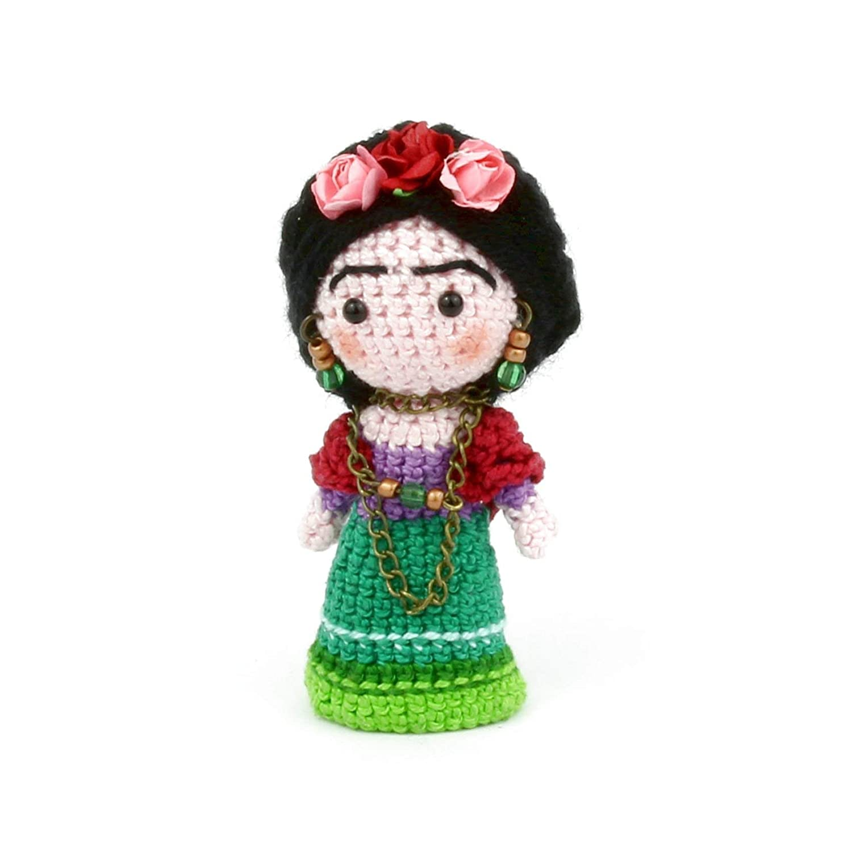 Frida Kahlo , Amigurumi de Ganchillo Hecho a Mano, Muñeco de ...