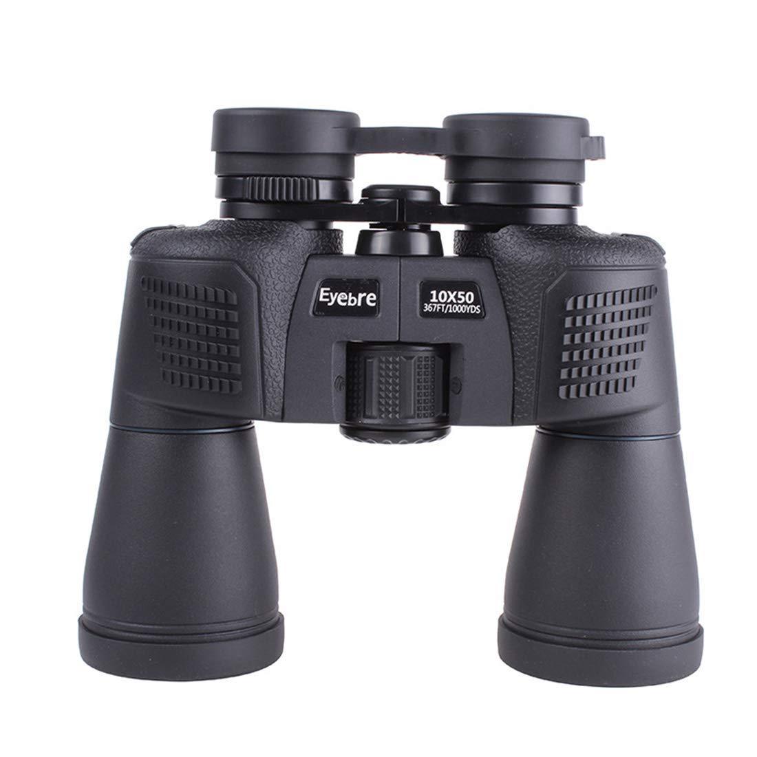 BMY Binoculares de Aumento HD Visión Nocturna 10X50 Visual Telescopio de Alta Resistencia a Prueba de Agua, Uso en Exteriores.