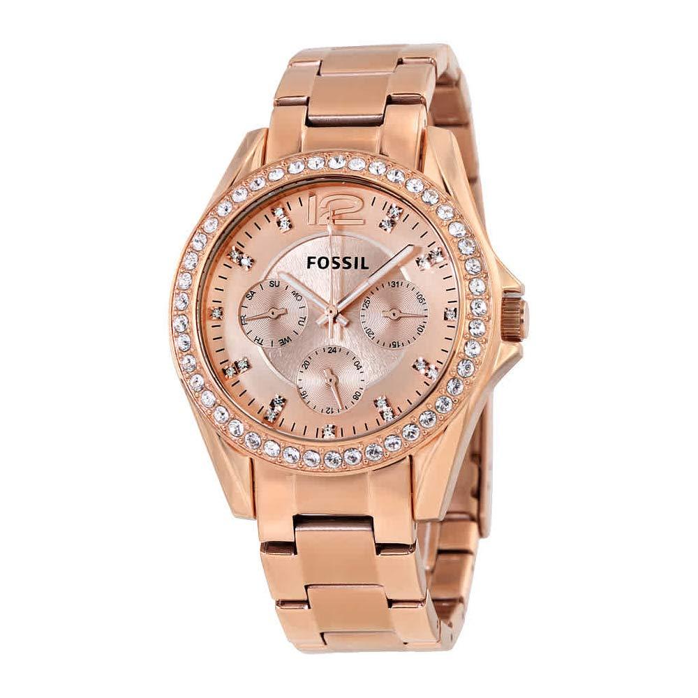 47d0776bd2fd Reloj Fossil Riley Multifunción Rose dorado para mujer ES2811 Precio ...