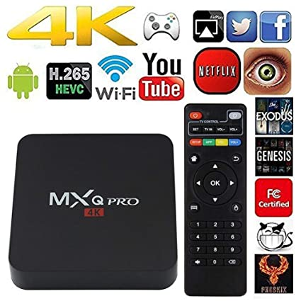 MXQ Pro 4K Android 7 1 TV Box, AMGUR MXQ Amlogic S905W Quad Core 1GB Ram  8GB Rom Smart TV Box Support 3D Wifi DLNA H 265 HEVC