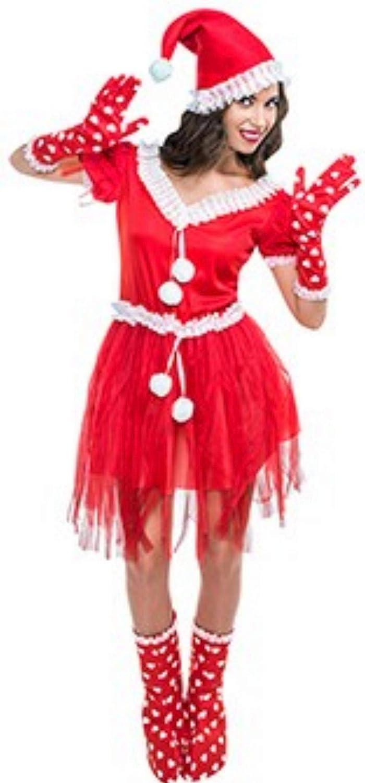Disfraz de Mamá Noel Pompones para mujer: Amazon.es: Ropa y ...