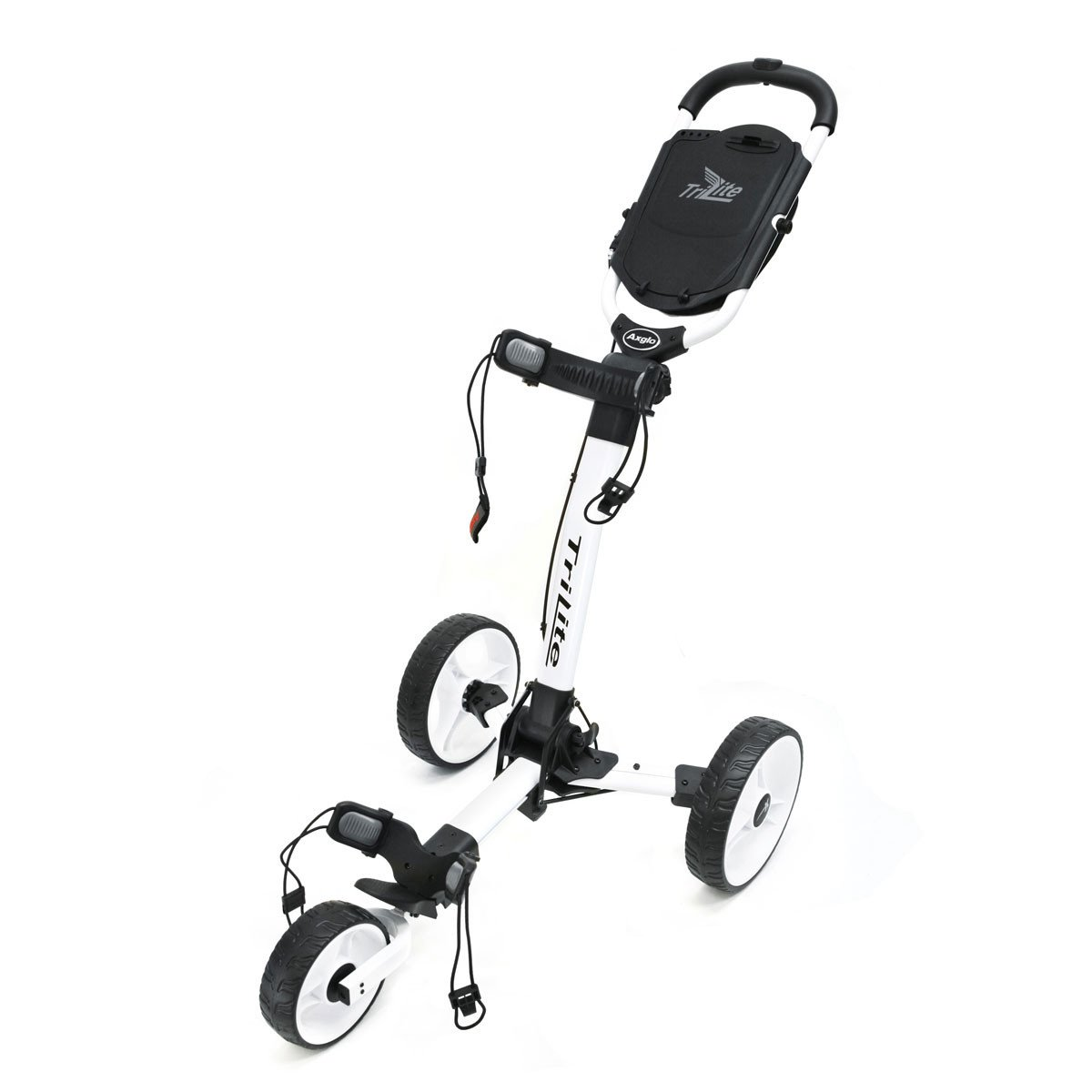 Axglo Golf Trilite 3 Rad Push Cart, weiß/weiß: Amazon.de: Sport ...