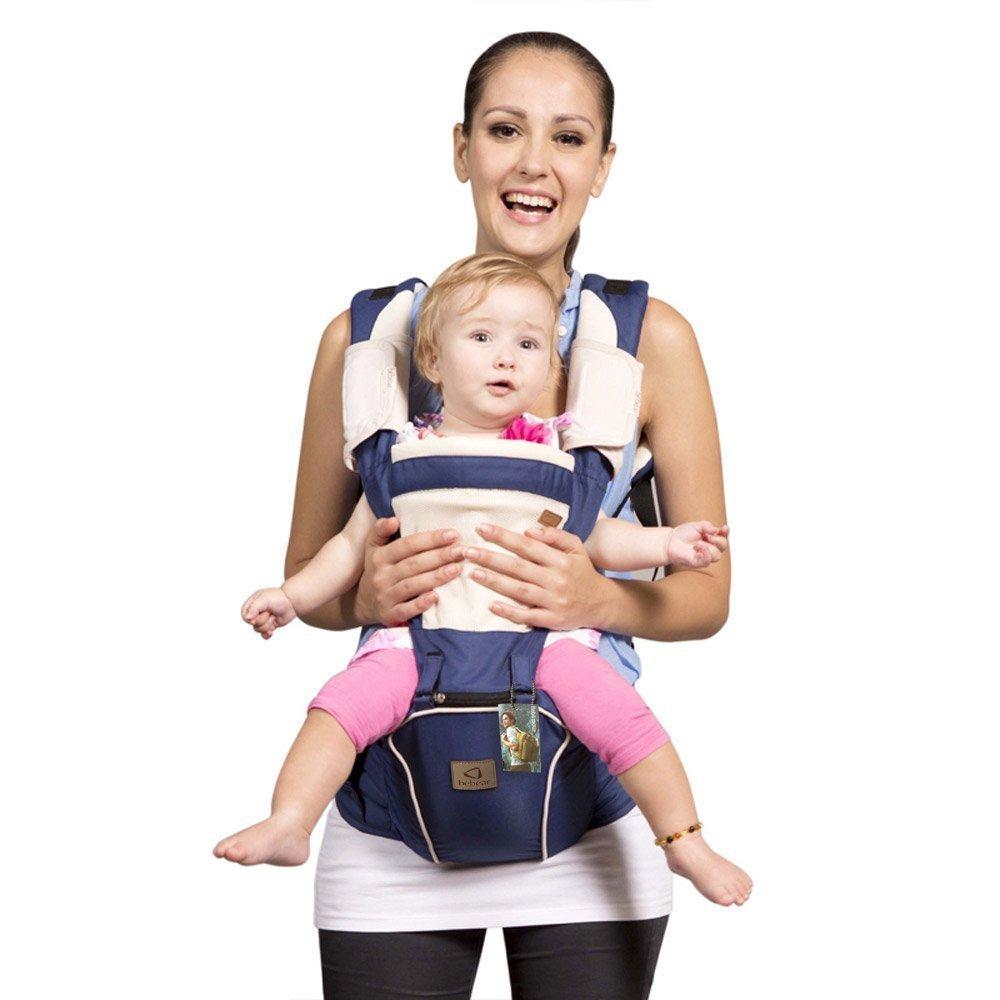 Bebamour New Style Designer Sling and Baby Carrier 2 in 1,Dark Blue