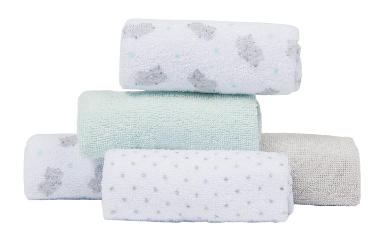 Rhinoceros Softan Baby Bath Towel Set 5+1 Great Gifts Pack Baby Hooded Towel with Wash Cloths