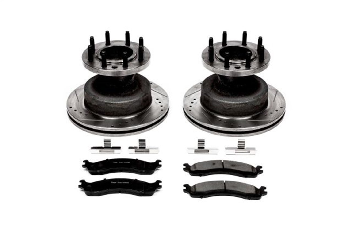 Power Stop K5084 Front Z23 Evolution Brake Kit with Drilled//Slotted Rotors and Ceramic Brake Pads