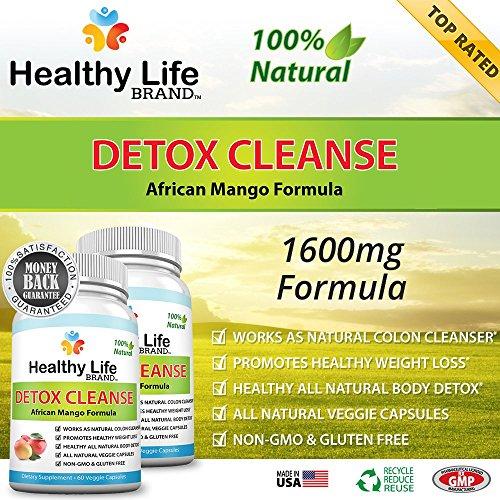Detox Cleanse Diet Supplément Avis - Healthy Life Brand - Supplément de 100% Pure All Natural Mango africaine Colon formule du corps de perte foie Detox Poids Diet - Burn Lose Belly Fat - Best Premium et Parfait toutes les pilules alimentation naturelle -