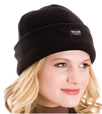 Ladies Polar Fleece Hat With Thinsulate Insulation One Size BNWT (Black)   Amazon.co.uk  Clothing 9af48cc36fb