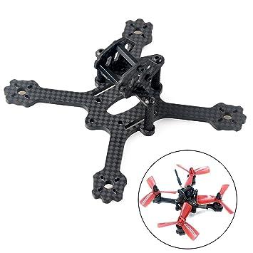 makerfire 112mm carbon fiber quadcopter frame for micro racing quadcopter micro fpv drone support 1103 1104 - Micro Quadcopter Frame