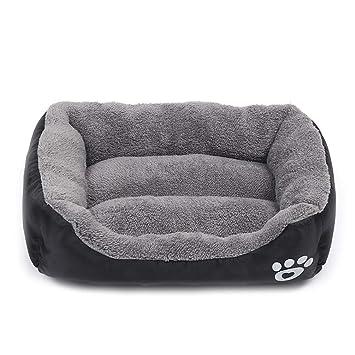 zhenghewyh Camas Perros Medianos Grandes Gatos Lavable Calentar Suave S M L XL (M, Negro): Amazon.es: Productos para mascotas