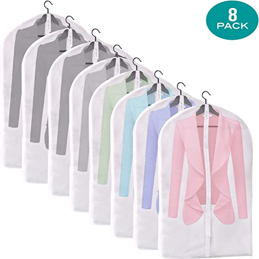 Clear Dust-proof Dress Clothes Cover Suit Dress Garment Bag Storage Protector US