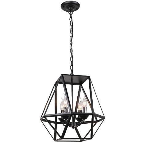 Unitary brand antique black metal hanging lantern candle chandelier unitary brand antique black metal hanging lantern candle chandelier with 4 e12 bulb sockets 160w painted aloadofball Gallery