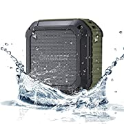 Amazon #LightningDeal 96% claimed: [Best Outdoor&Shower Bluetooth Speaker Ever] Omaker M4 Portable Bluetooth 4.0 Speaker with 12 Hour Playtime for Outdoors/Shower