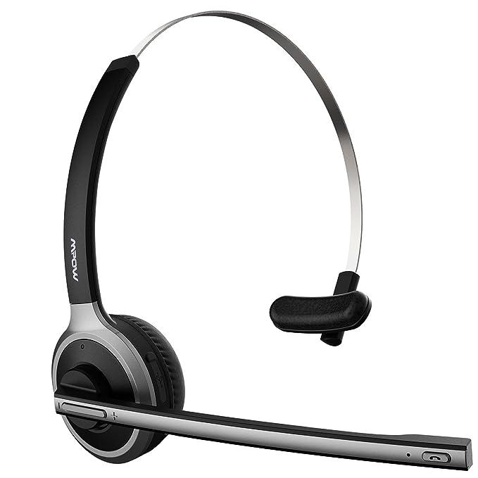 Mpow Auriculares de Diadema Bluetooth 4.1 Inalámbricos con Micrófono Externo 13 Horas de Conversación Ligero Manos Cancelación de Ruido para Llamdas ...