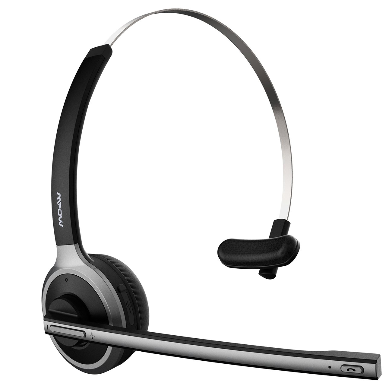 Mpow Upgraded Version Bluetooth Headset/Truck Driver Headset, Wireless Over Head Earpiece with Noise Reduction Mic for Phones, Skype, Call Center, Office (Support Media Playing)