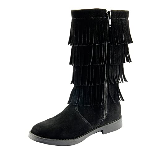 67fefa85637 The Doll Maker Tall Fringe Flat Suede Boot