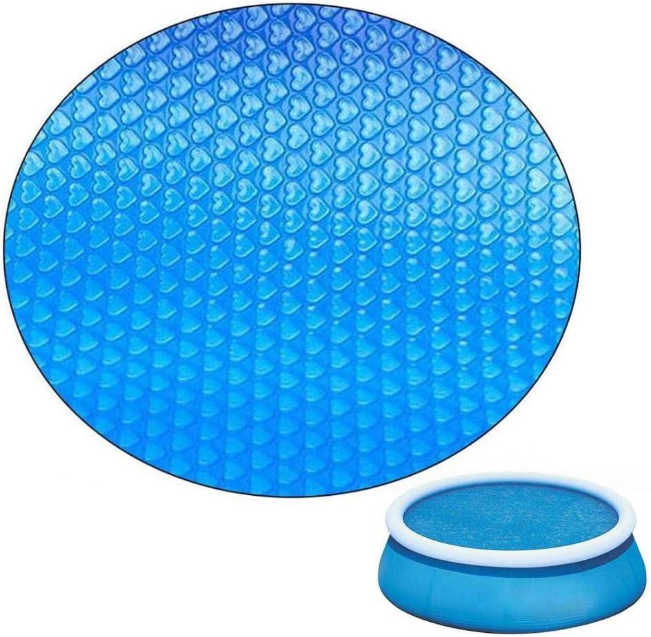 Funcylande Cubierta Protectora para Piscina Tubular, Cubierta Rectangular para Piscina, Piscinas Tubulares con Cubierta De Burbujas, Cubierta para Lluvia - Azul