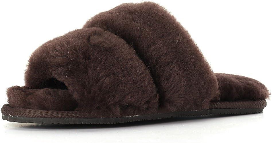 DAISY Sheepskin Fluff Slippers Open Toe