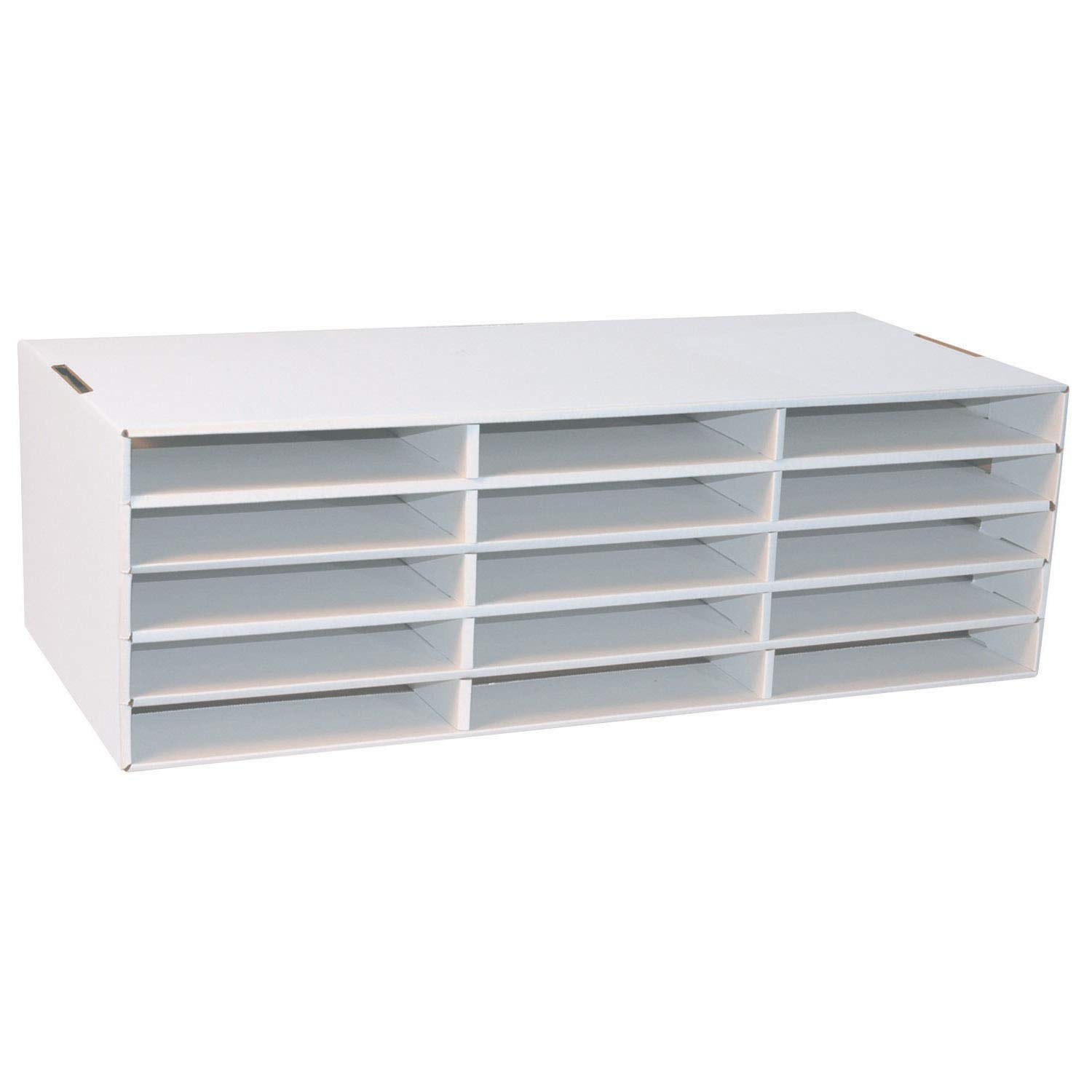 Classroom Keepers 9'' x 12'' Construction Paper Storage, White,  9-3/8''H x 29-1/4''W x 12-7/8''D, 1 Piece