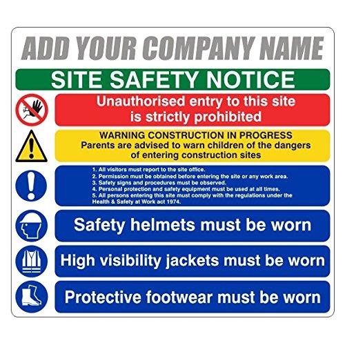 600x450mm Multi Hazard Site Safety Notice 6 Points