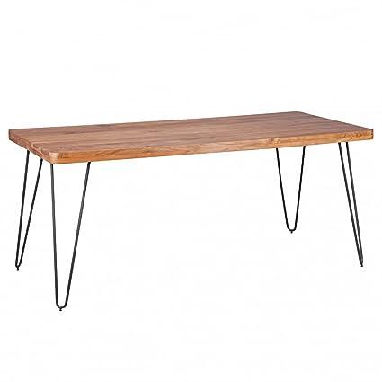 Home Collection24 Tavolo da pranzo Bagli in legno massiccio di ...