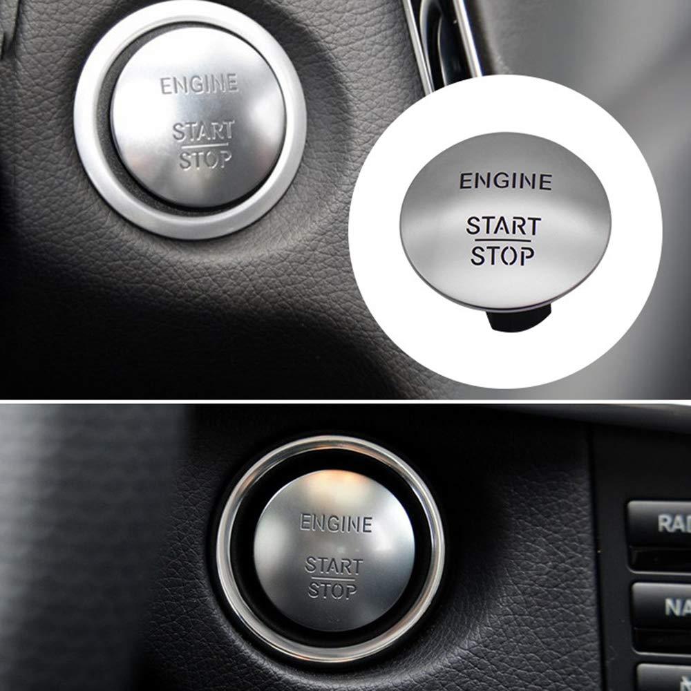 Carrfan Keyless Go Start Stop Druckknopf Motor Z/ündschalter 2215450714 Passend f/ür Benz W164 W205