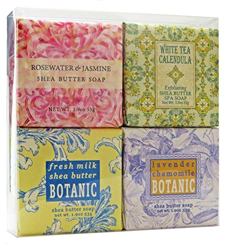 Gift Boxed Milk Bath (Country Cottage Soap Sampler - Boxed Set of 4 Assorted)