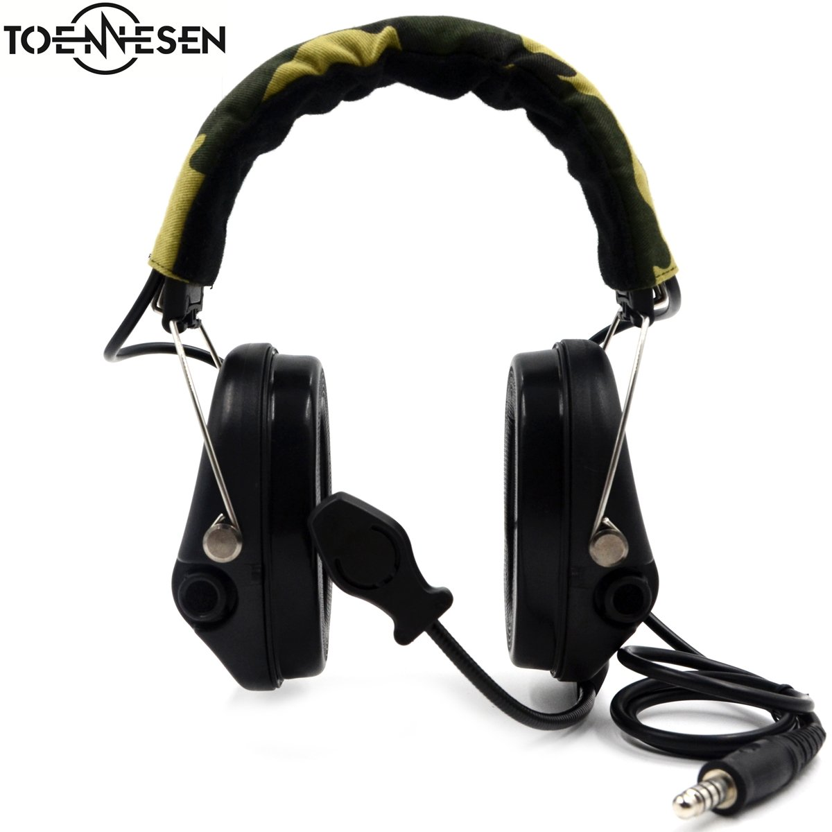 Electronic Earmuff with Noise Cancelling Construction for Hunting & Shooting by TOENNESEN
