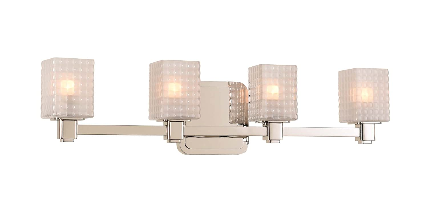 Amazon.com: kalco lighting 313934pn 4 luz baño: Home Improvement