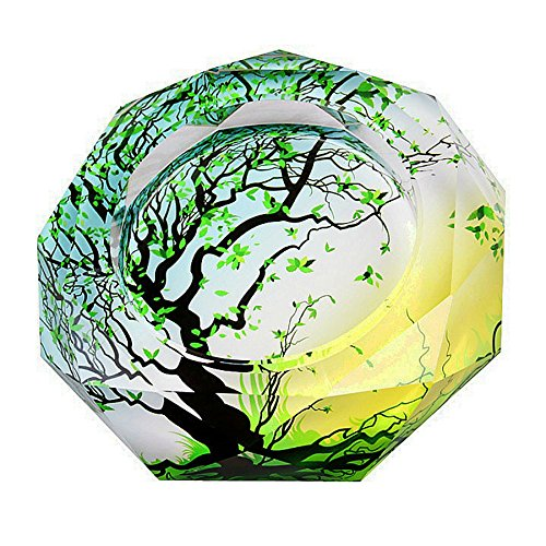 OSONA 高級 葉巻 灰皿 おしゃれ ガラス 卓上灰皿 アッシュトレイ 大容量 20cm B01IHHM6O0 20cm|グリーン グリーン 20cm