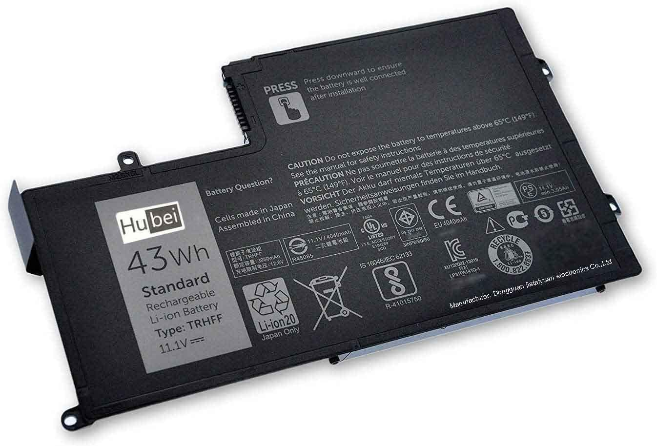 TRHFF 1V2F6 7P3X9 1WWHW R0JM6 J0HDW Replacement Laptop Battery for DellLatitude 3450 3550 Inspiron 15 5542 5543 5545 5547 5548 5557 14 5442 5443 5445 5447 (11.1V 43WH)