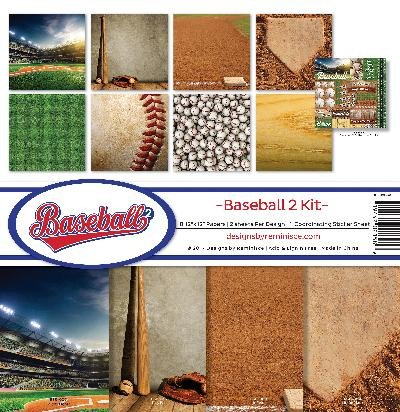 Reminisce Baseball 2 Collection Scrapbook Kit (Sports Scrapbook Kit)