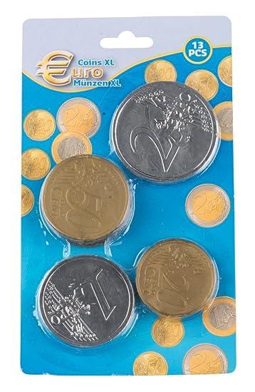 Eddy Toys Spielgeld Euromünzen Xl 13 Teiliges Set Amazonde Spielzeug