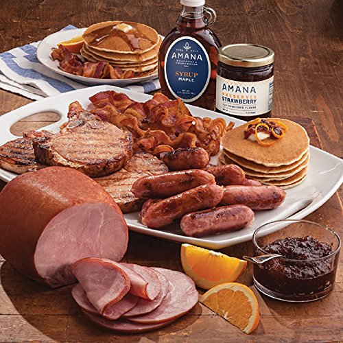 Gourmet Foods, Brunch Pack, 2-3 lb. Smoked Boneless Ham Four 8 oz. Smoked Pork Chops 2 lb. Original Pancake Mix 1 lb. Maple Country Sausage Links (10 ct) 1 lb. Cheddar Breakfast Links (10 ct) 1 lb. Sl by Unknown