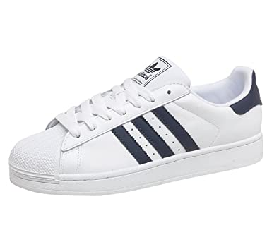 Adidas Originals Superstar 2 Mens Trainers White Navy Size 9 UK   Amazon.co.uk  Shoes   Bags fffa65aa99d9